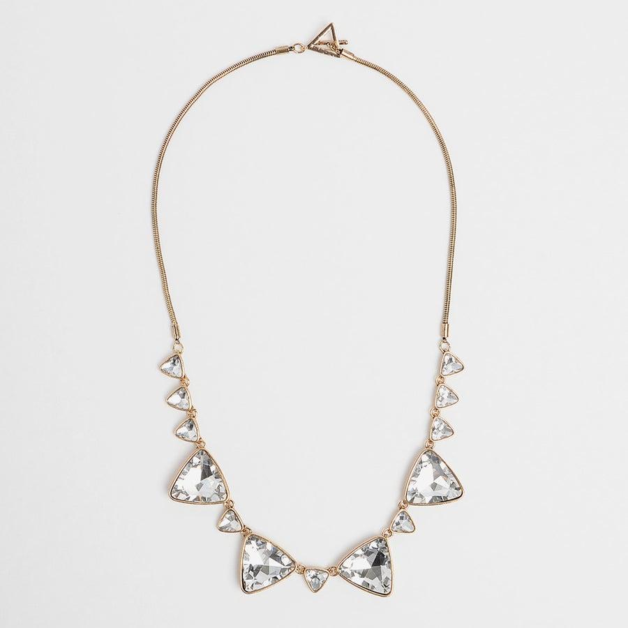 Image of Triangular Gem Necklace