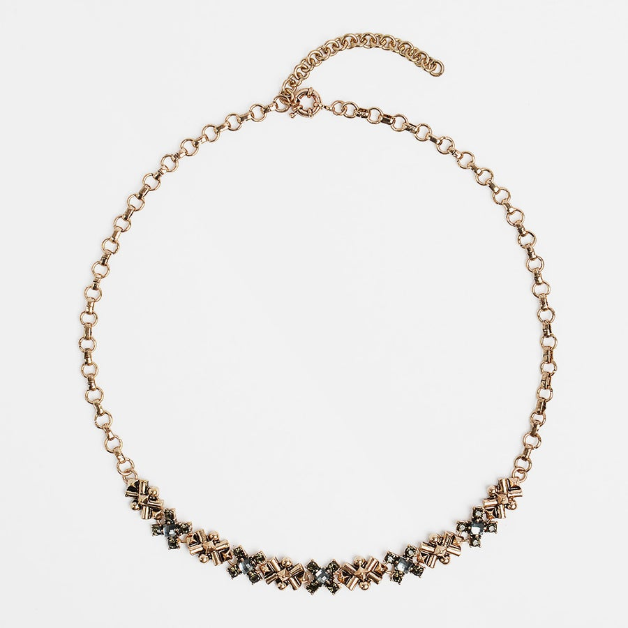 Image of Adeline Gold & Gray Necklace