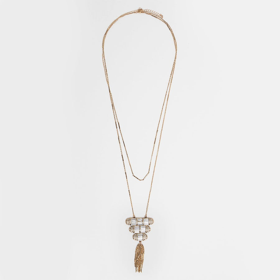 Image of Gold Luxe Tassel Necklace