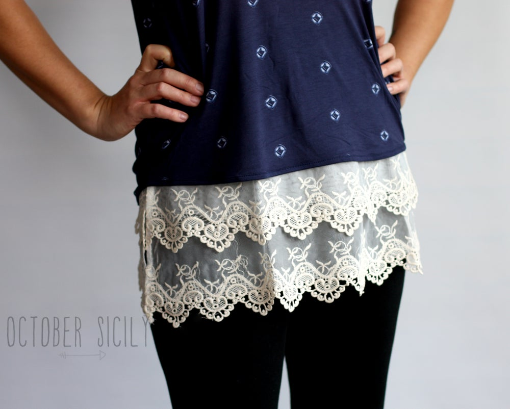 Image of Lace Top Shirt Extender *Style 2*
