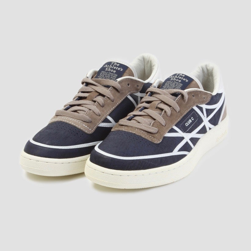 Image of Reebok X Garbstore Club C International Navy & Brown