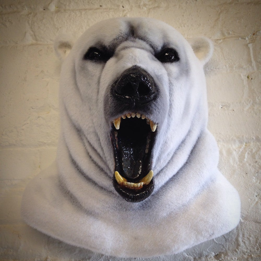 Image of Faux taxidermy polar bear