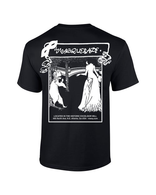 Image of Black Cotton Masquerade T-Shirt