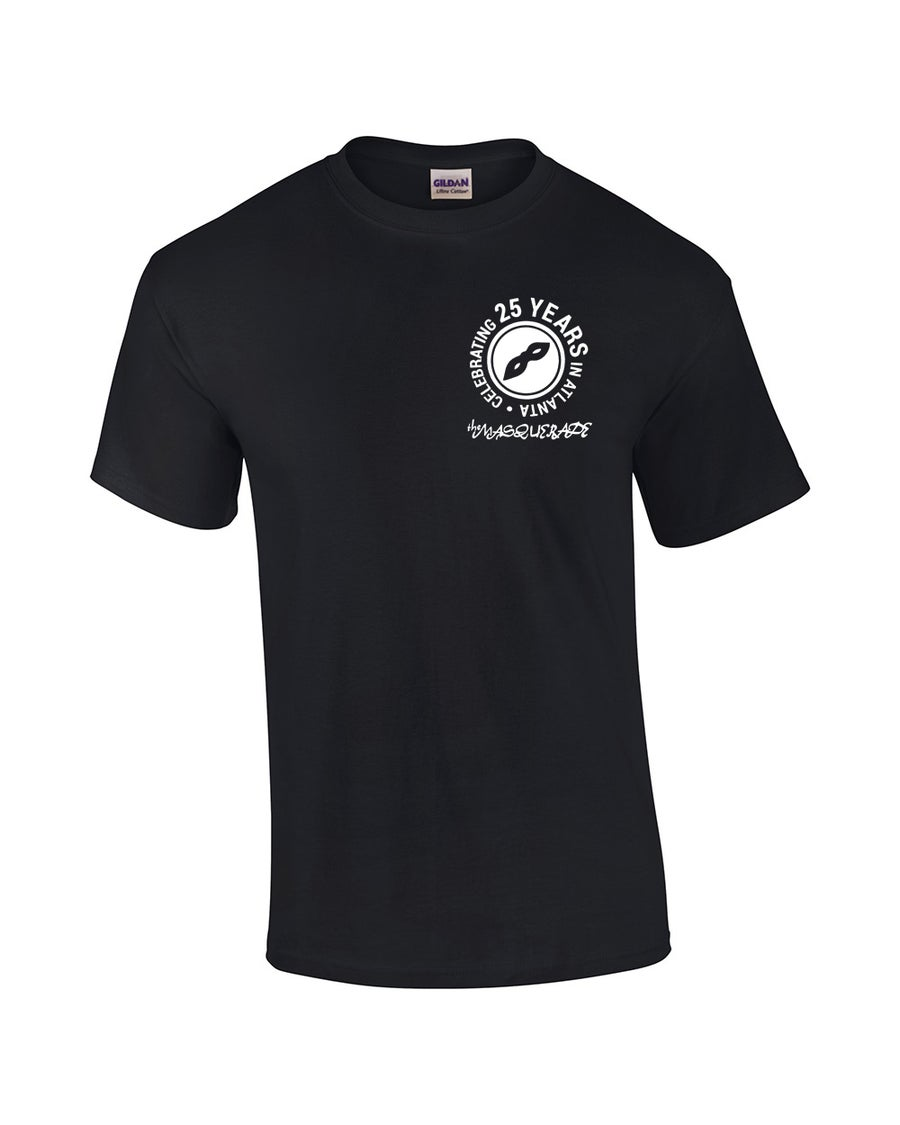 Image of Black Cotton Masquerade T-Shirt