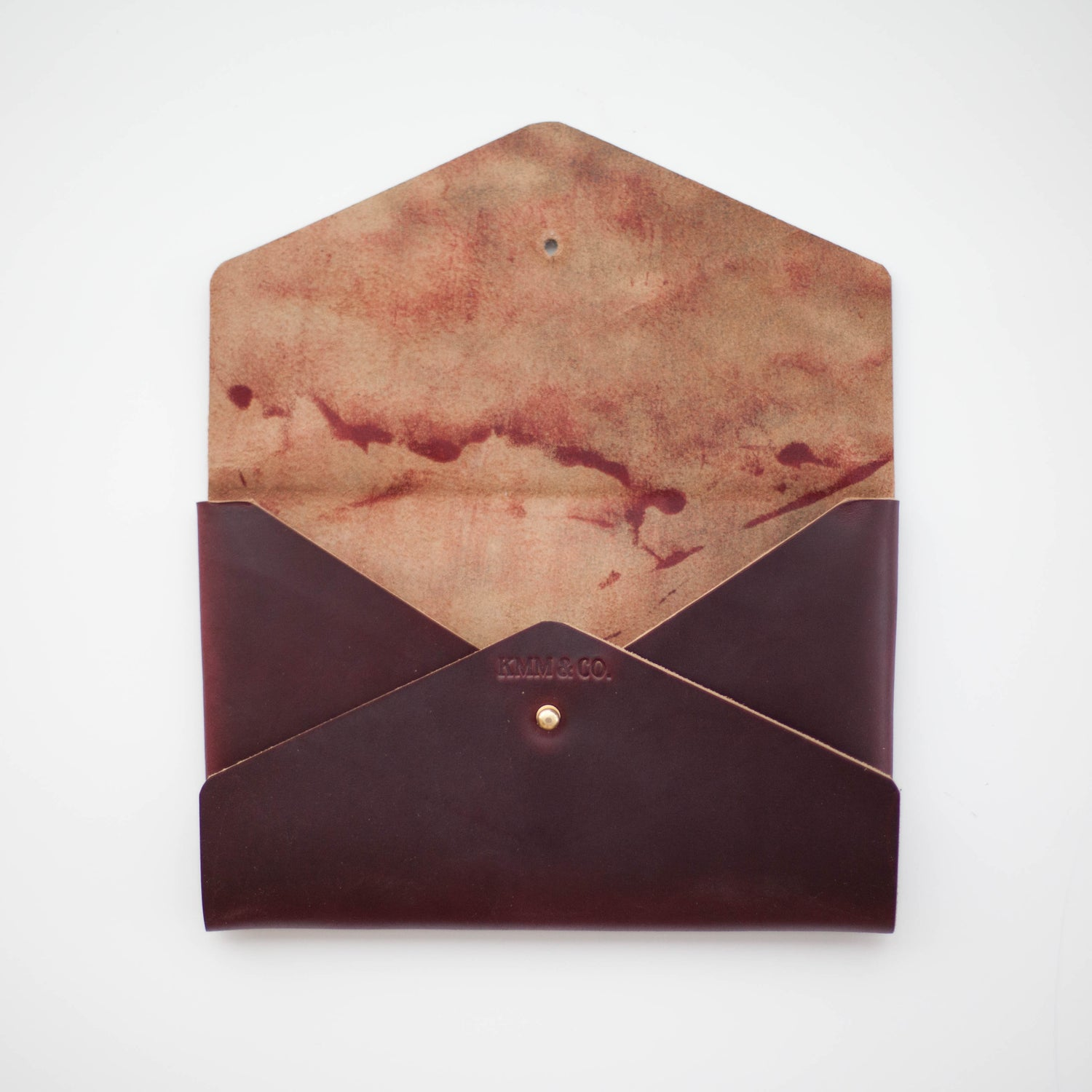 Image of Oxblood Horween Chromexcel Envelope Clutch
