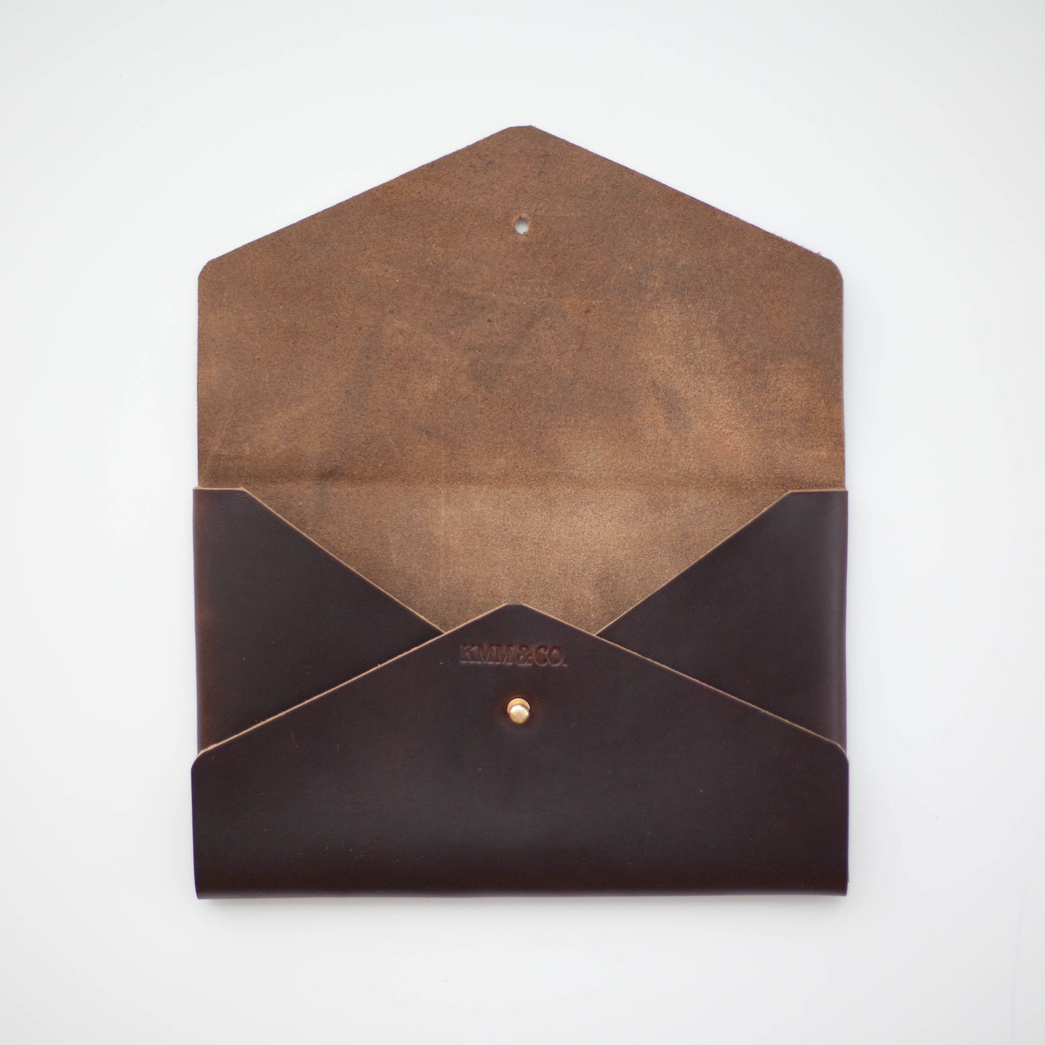 Image of Brown Horween Chromexcel Envelope Clutch