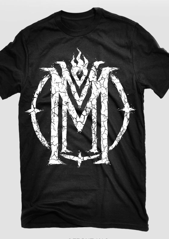 Image of Cracked Symbol Tee BLACK