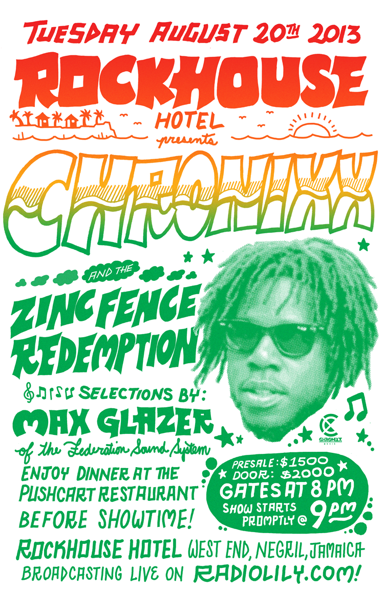 Image of Chronixx Live at Rockhouse 2013 Poster