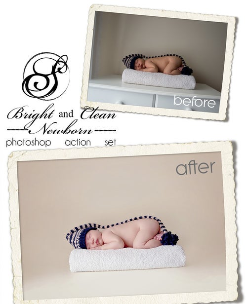 Image of Bright and Clean Newborn™ Photoshop Action Set