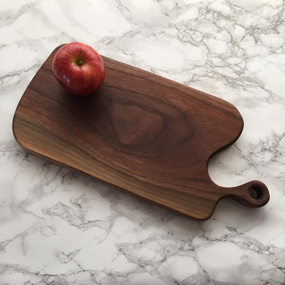 Image of Handled Walnut Serving Board