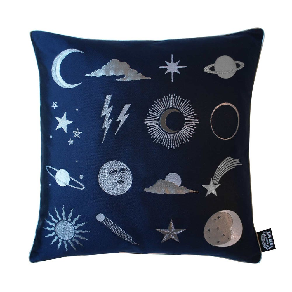Image of UNIVERSE Silk Jacquard Cushion