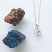 Image of Sterling Silver Quartz Nugget Necklace