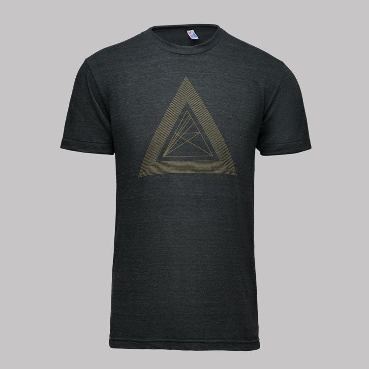 Image of microCastle Death Of Geometry T-Shirt Heather Black