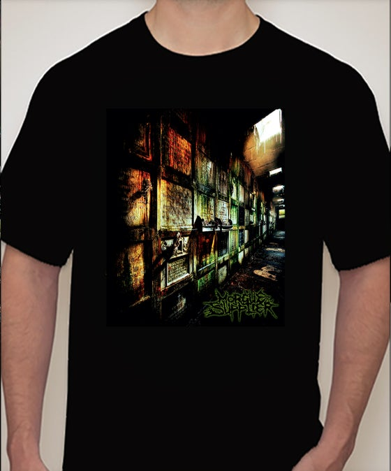 "Image of ""Morgue Supplier"" album cover T-Shirt"