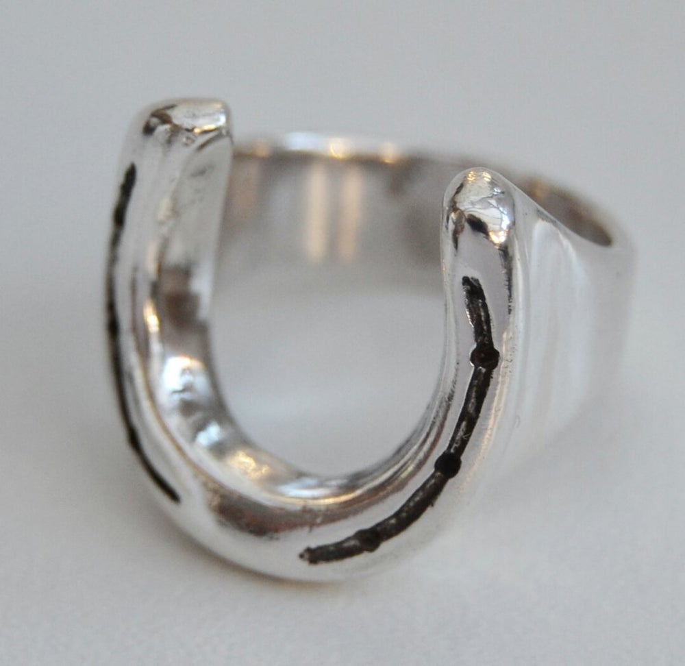 Image of Solid Silver 'Oss Shoe Ring