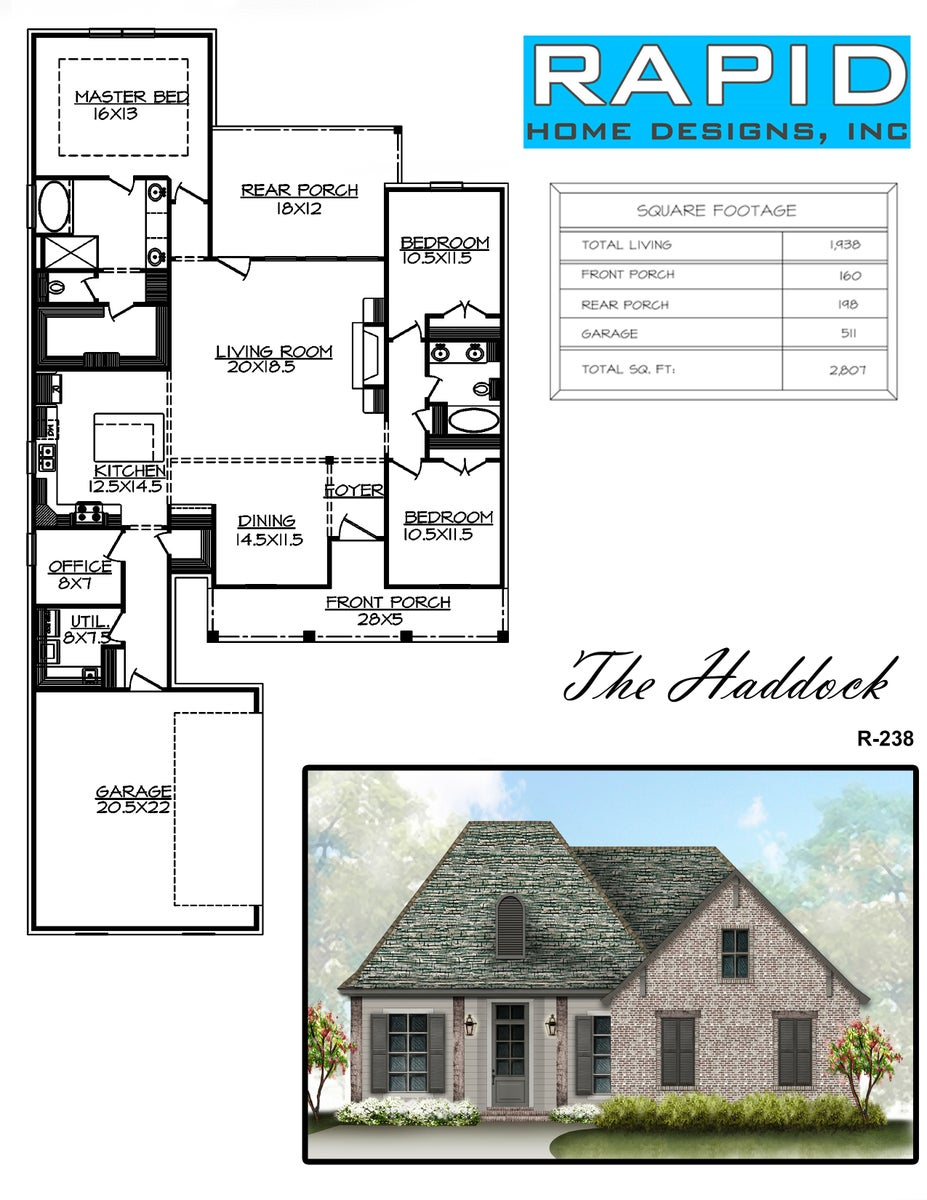The haddock 1938sf rapid home designs for Rapid home designs