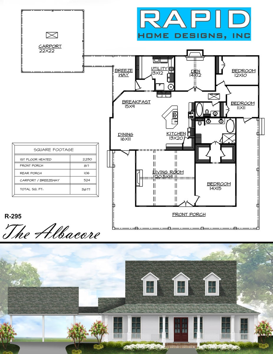 The albacore 2230sf rapid home designs for Rapid home designs