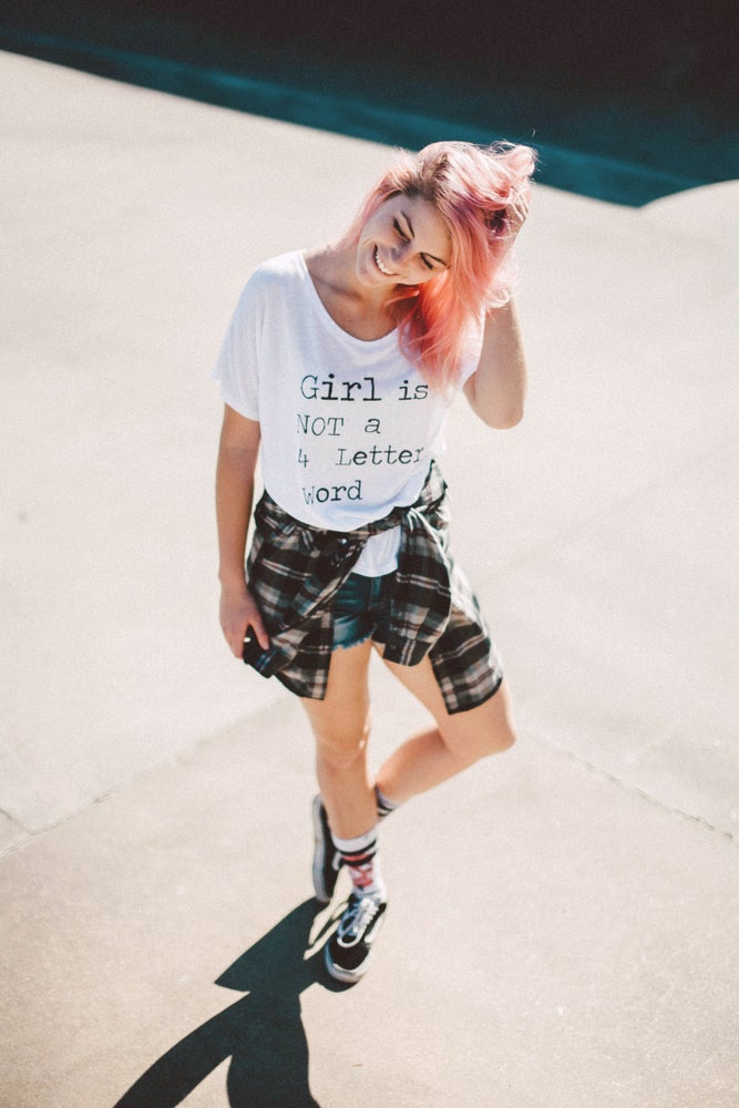 Image of Girl is NOT a 4 Letter Word Tee