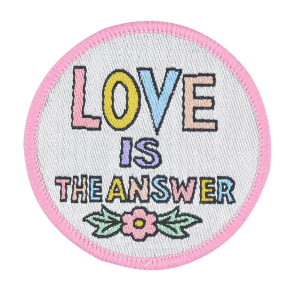 Image of Love is the Answer Iron-on Patch