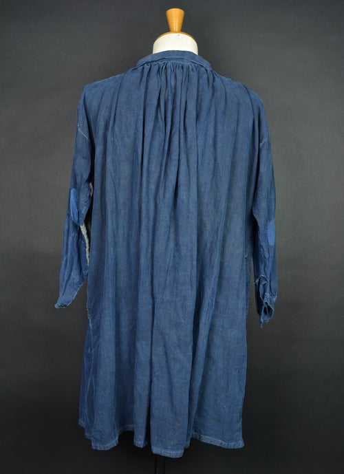 Image of 1880'S FRENCH INDIGO LINEN MAQUIGNIN BIAUDE PATCHED