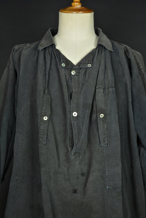 Image of 1900'S FRENCH BLACK LINEN MAQUIGNON BIAUDE