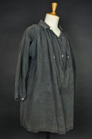 Image of 1900'S FRENCH BLACK LINEN MAQUIGNON BIAUDE