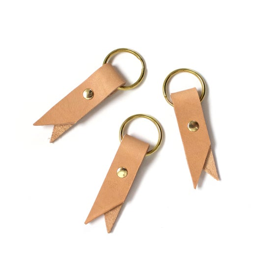 Image of Veg Tanned Fold-over Key Ring