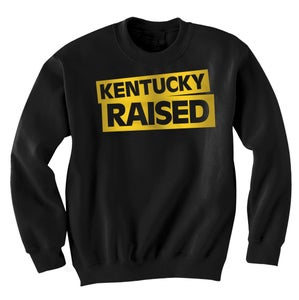 Image of KY Raised Crewneck Sweatshirt in Black & Gold