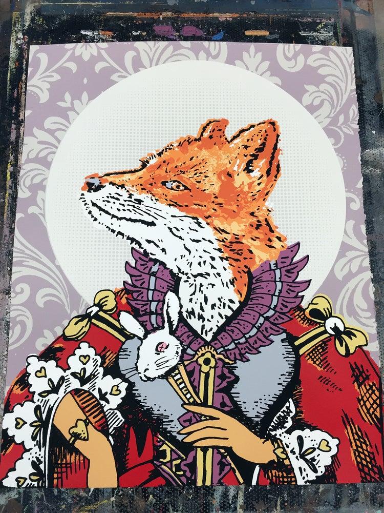 Image of Royal Fox Queen - Hand Screen Printed Art Print