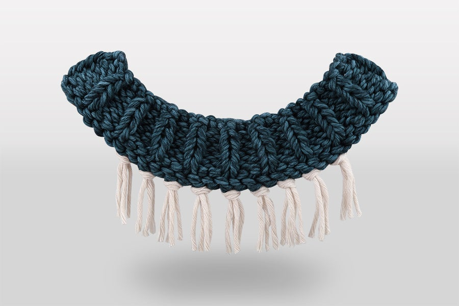 Image of Knitted necklace - teal