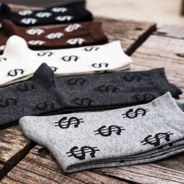 "Image of X-Society  Socks ""Dollar Signs"""
