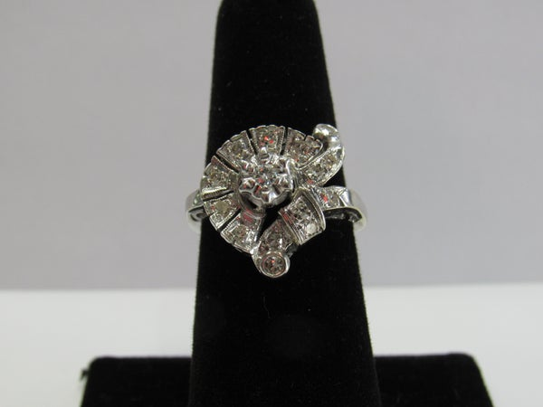 Image of Vintage Deco White gold Ring