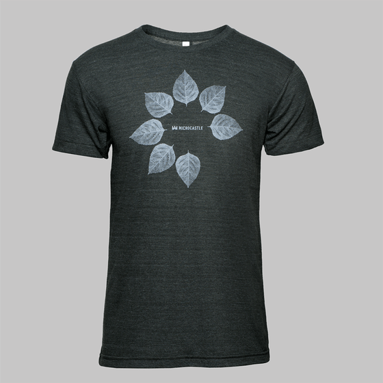 Image of microCastle Pollen Spreader T-Shirt Heather Black