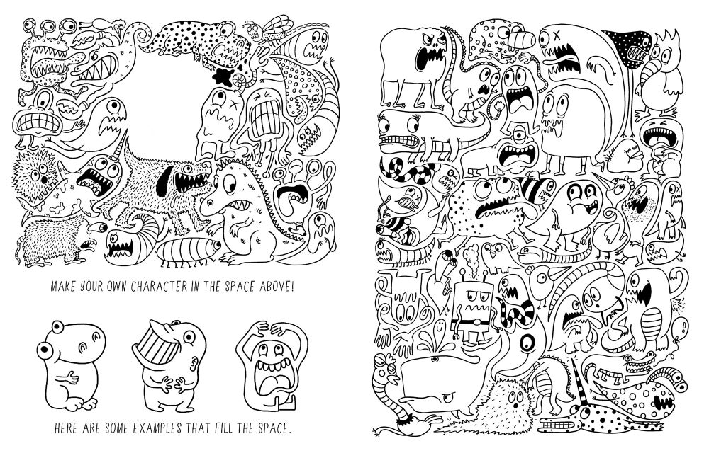 image of weird funny cool coloring book - Weird Coloring Books