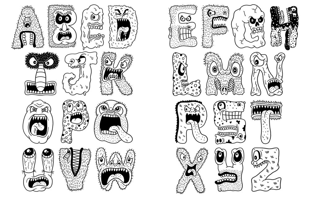 Chris Piascik — Weird & Funny & Cool Coloring Book