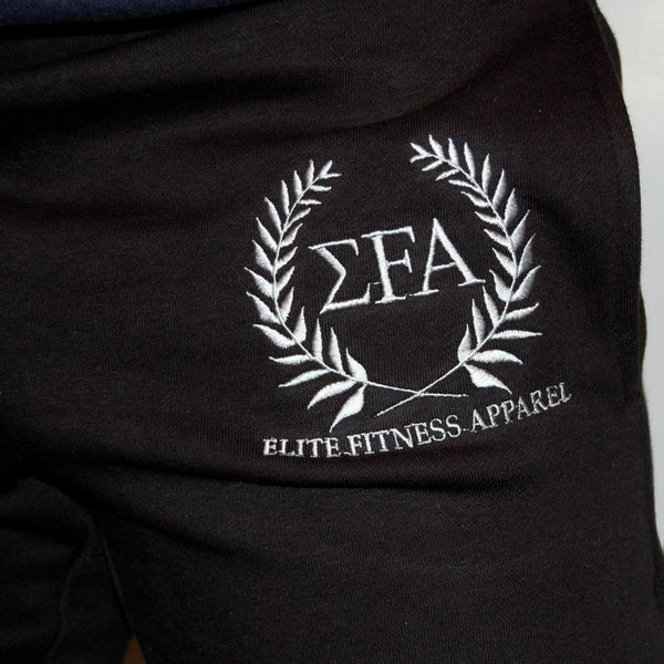 Elite Joggers - Black/White - Elite Fitness Apparel
