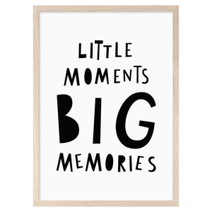 Image of Little Moments Big Memories -printti, Mini Learners