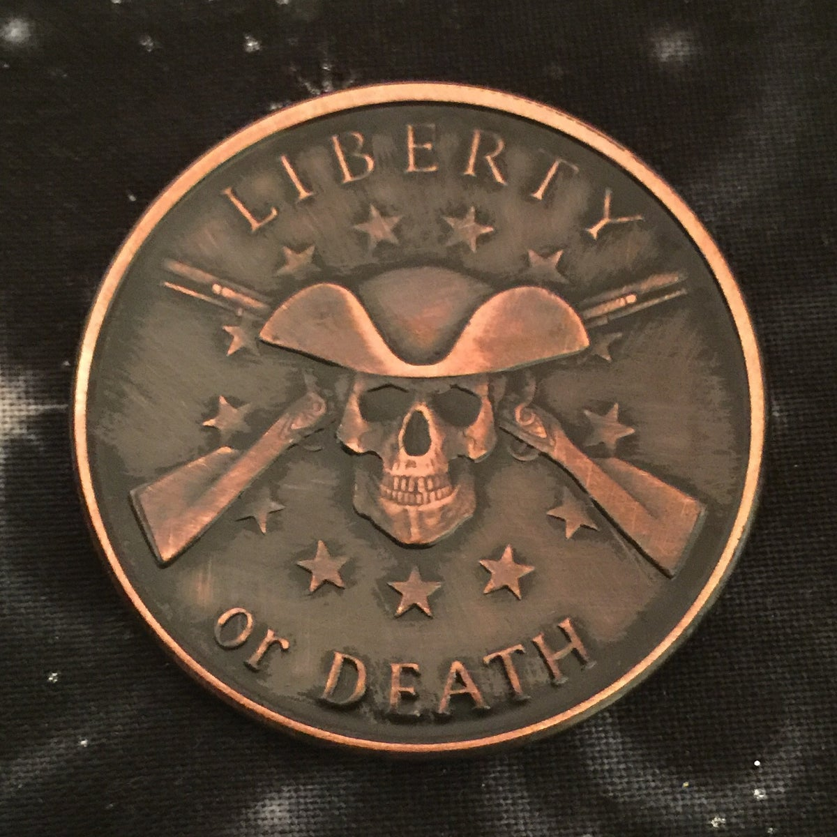 Liberty Or Death 1oz Copper Challenge Coin Rowan Valley