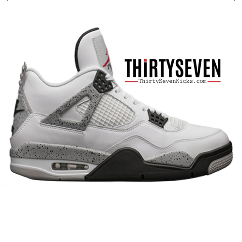 "Image of Jordan Retro 4 ""White Cement"""