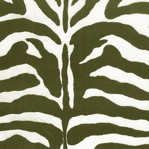 Image of FF Zebra Print Black and White Outdoor Fabric 569