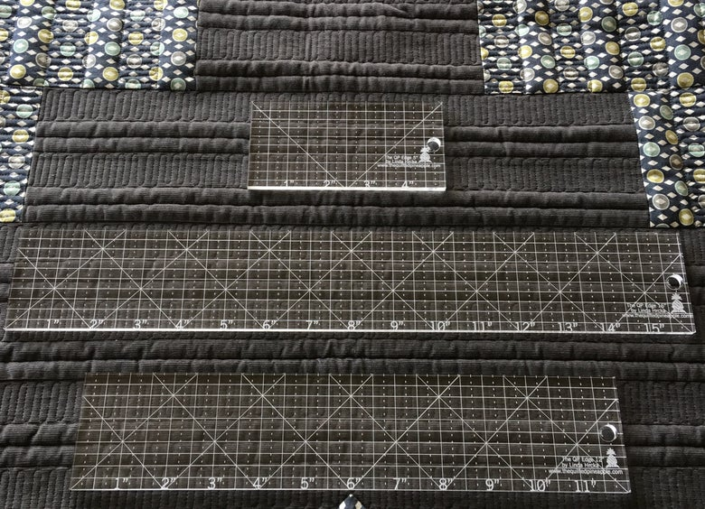 Image of Special Set Offer- Set of The QP Edge straight rulers for longarm and domestic machines.