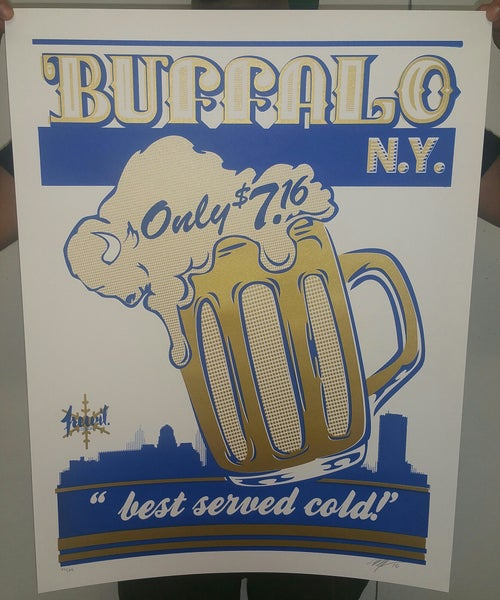 """Image of BUFFALO NY """"best served cold!"""" POSTER"""