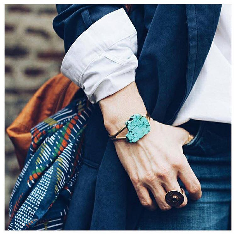 Image of Turquoise Stone Cuff