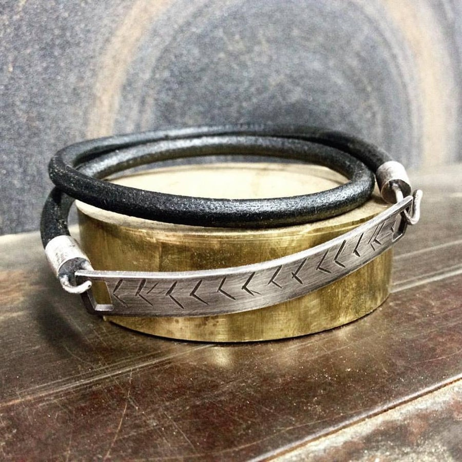 Image of Herring Bone Wrap Bracelet