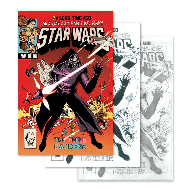 Image of Star Wars #7 Cover Art (Pencil, Ink, Color)