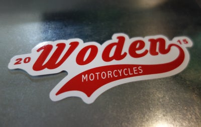 Image of 'Woden Motorcycles' Logo sticker