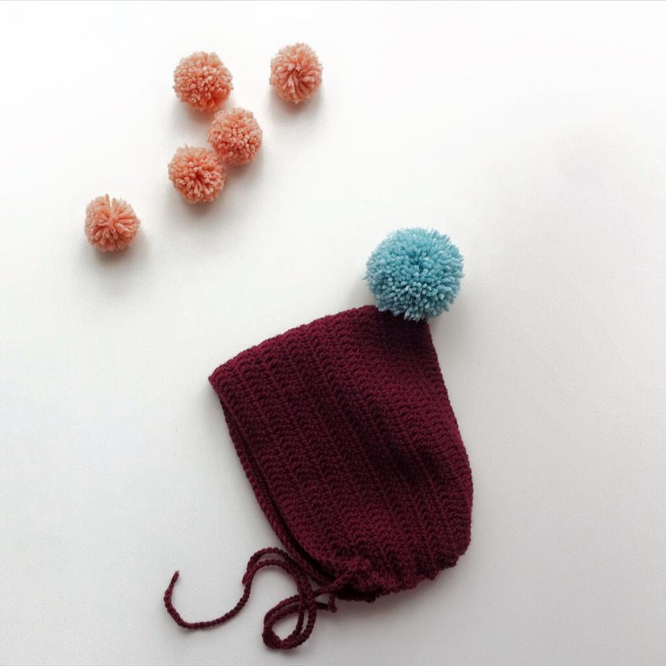 Image of Crochet Bonnets / Capotas -pure wool-