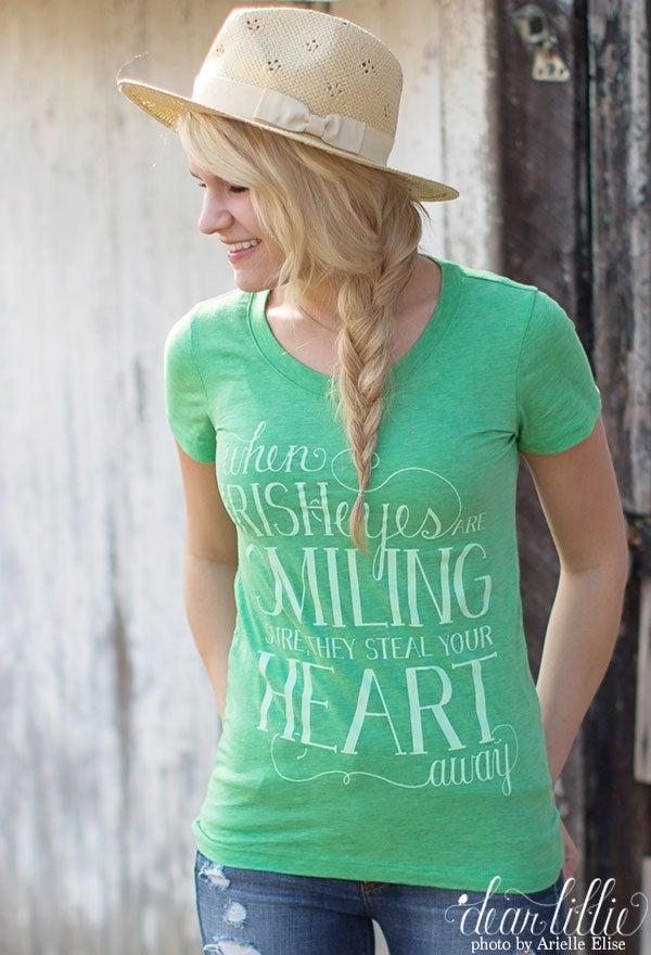 Image of Irish Eyes Women's Shirt in Green