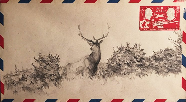 Image of Air Mail Drawing #1