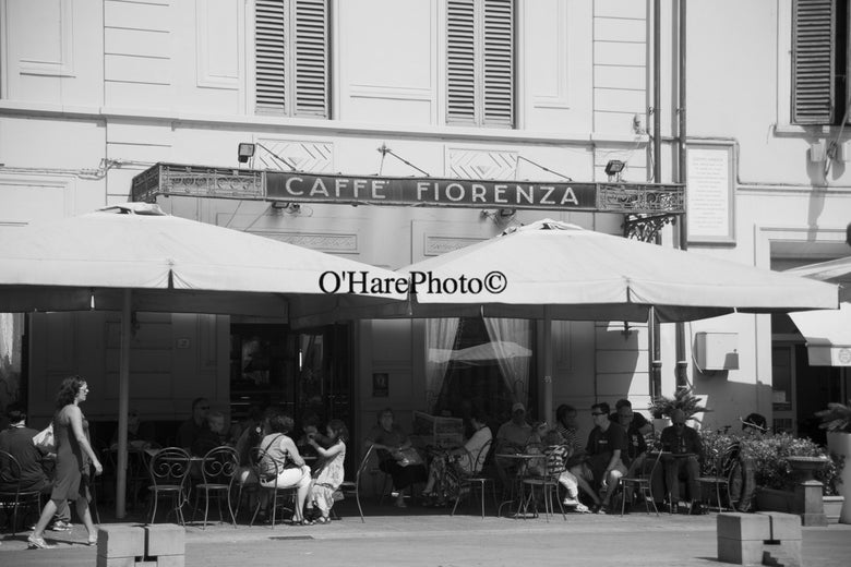 Image of CAFFE' FIORENZA • Custom Matted